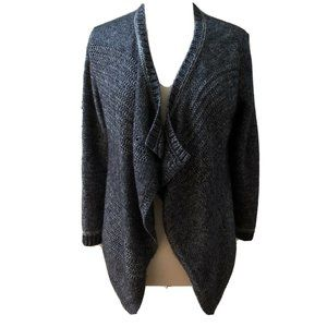 Lucky Brand Blue Open Front Knit Cardigan Sweater